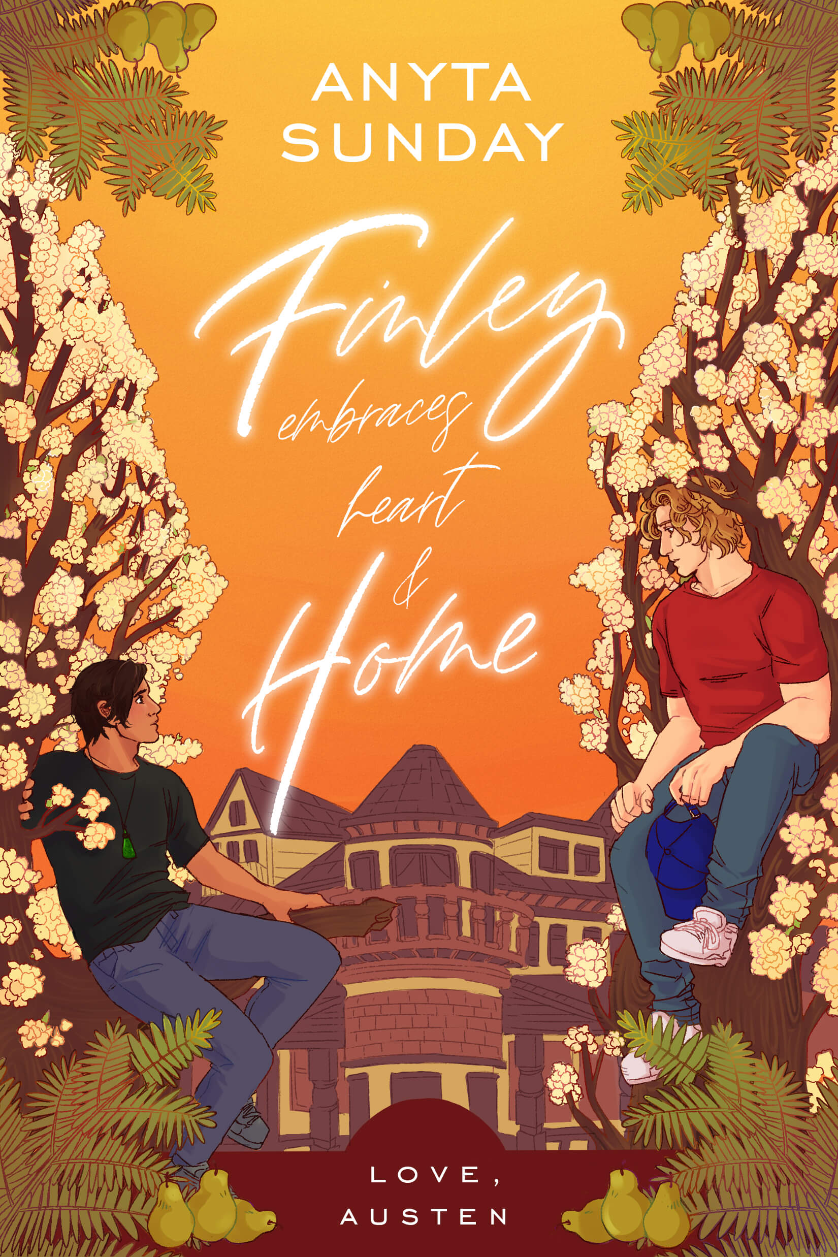 Finley Embraces Heart And Home by Anyta Sunday, a contemporary gay retelling of Jane Austen's Mansfield Park